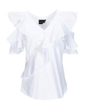 Блузка ATOS LOMBARDINI. Цвет: белый