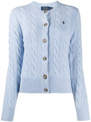 Кардиган фактурной вязки Polo Ralph Lauren. Цвет: синий