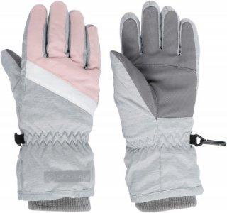 Перчатки для девочек , размер 6 Glissade. Цвет: серый