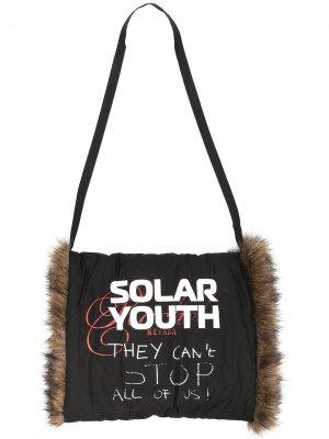 Муфта для рук с принтом Solar Youth Raf Simons. Цвет: черный