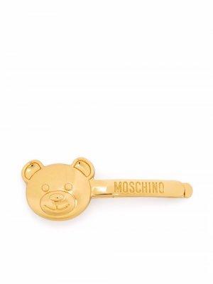Зажим для галстука Teddy Bear Moschino. Цвет: золотистый