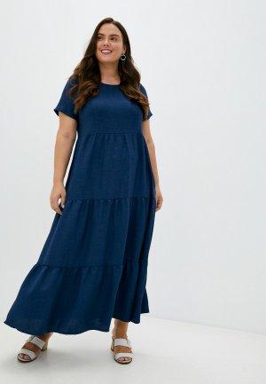 Платье Forus. Цвет: синий