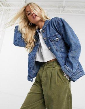 Синяя джинсовая куртка в стиле oversized от -Синий Only