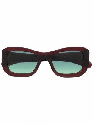 Солнцезащитные очки в квадратной оправе FLATLIST. Цвет: красный