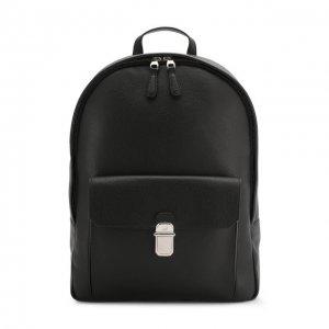 Кожаный рюкзак Dunhill. Цвет: чёрный