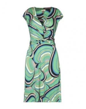 Платье до колена ISSA. Цвет: зеленый