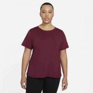 Женская сетчатая футболка Pro (большие размеры) - Красный Nike