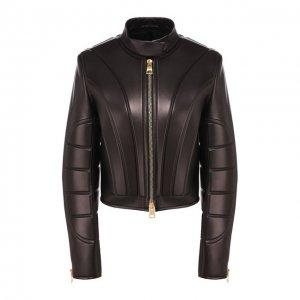 Кожаная куртка Bottega Veneta. Цвет: чёрный