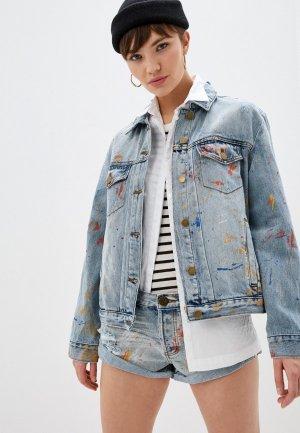 Куртка джинсовая One Teaspoon. Цвет: голубой