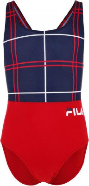 Купальник для девочек , размер 128 FILA. Цвет: красный