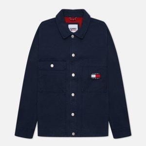 Мужская джинсовая куртка Tommy Badge Boxy Trucker Jeans. Цвет: синий