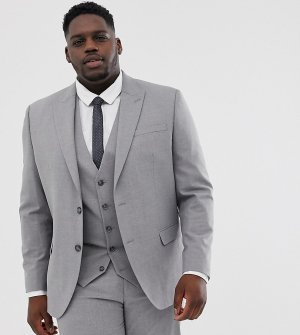 Серый пиджак wedding Big & Tall River Island