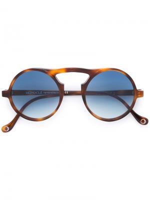 Солнцезащитные очки Pompeo Monocle Eyewear. Цвет: коричневый