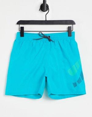 Бирюзовые пляжные шорты в стиле волейбольных длиной 5 дюймов Swimming-Зеленый цвет Nike