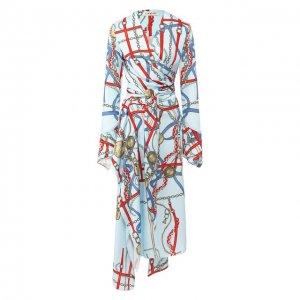 Платье с поясом Lanvin. Цвет: синий