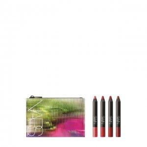 Набор ярких матовых карандашей для губ Mustang NARS. Цвет: бесцветный