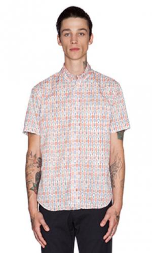 Рубашка woodies Gitman Vintage. Цвет: белый
