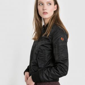 Куртка-бомбер сатиновый SCHOTT. Цвет: телесный