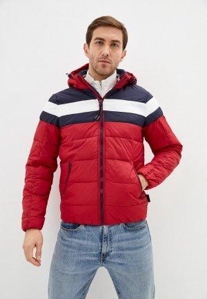 Куртка утепленная Indicode Jeans. Цвет: красный