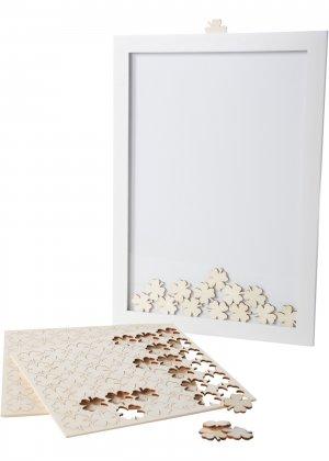 Гостевая книга с листьями клевера bonprix. Цвет: белый