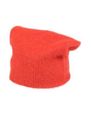 Головной убор JUCCA. Цвет: оранжевый