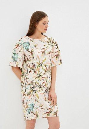 Платье EMI. Цвет: разноцветный