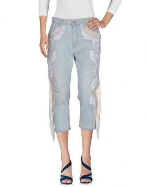 Джинсовые брюки-капри .AMEN.. Цвет: синий