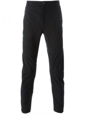 Классические брюки с контрастными вкраплениями Lanvin. Цвет: чёрный
