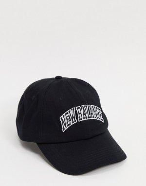 Черная кепка collegiate-Черный New Balance