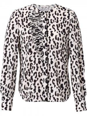 Блузка с леопардовым принтом Jason Wu Collection. Цвет: нейтральные цвета