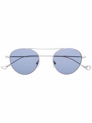 Солнцезащитные очки S.Eularia в круглой оправе Eyepetizer. Цвет: серебристый