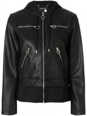 Байкерская куртка на молнии Twin-Set. Цвет: чёрный