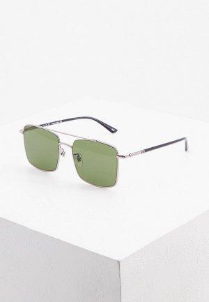 Очки солнцезащитные Gucci GG0610SK 003. Цвет: серебряный