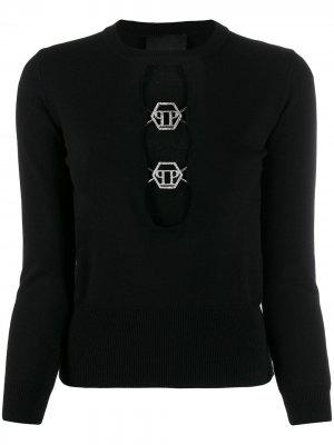 Пуловер с логотипом PP Philipp Plein