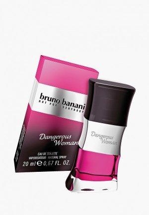Туалетная вода Bruno Banani Dangrs Woman, 20 мл.. Цвет: розовый