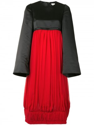 Платье миди в стиле колор-блок Comme Des Garçons. Цвет: красный