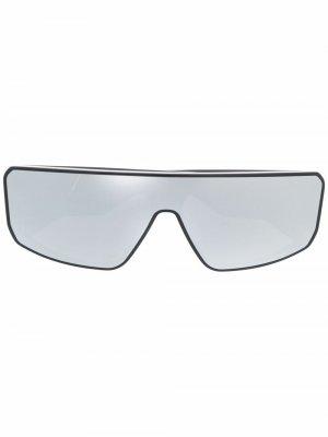 Солнцезащитные очки Performa в D-образной оправе Rick Owens. Цвет: черный