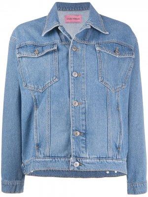 Джинсовая куртка Logomania Chiara Ferragni. Цвет: синий