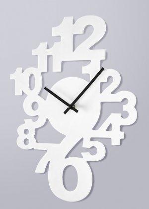 Часы настенные Ник bonprix. Цвет: белый