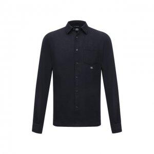 Льняная сорочка C.P. Company. Цвет: синий